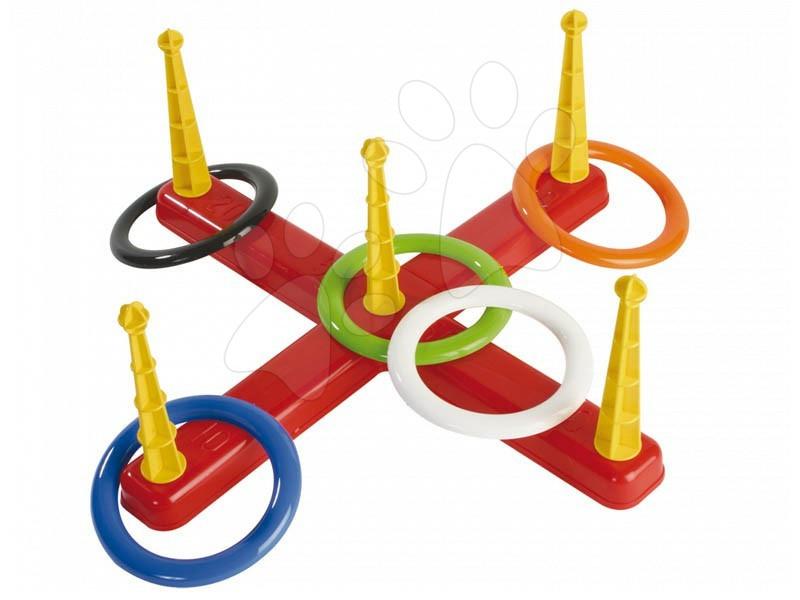 Sportovní hry pro nejmenší - Kruhy na házení Dohány se stojanem od 3 let