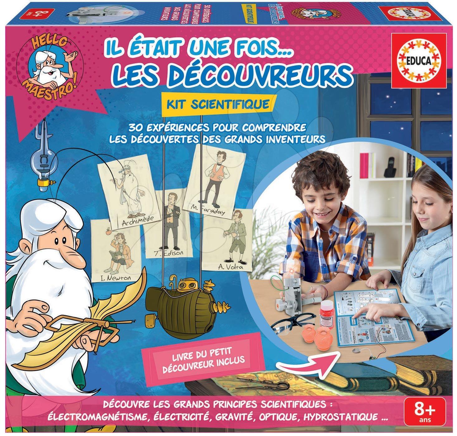 Cudzojazyčné spoločenské hry - Spoločenská hra Hello Maestro Educa Vynálezci a Bádatelia po francúzsky od 8 rokov