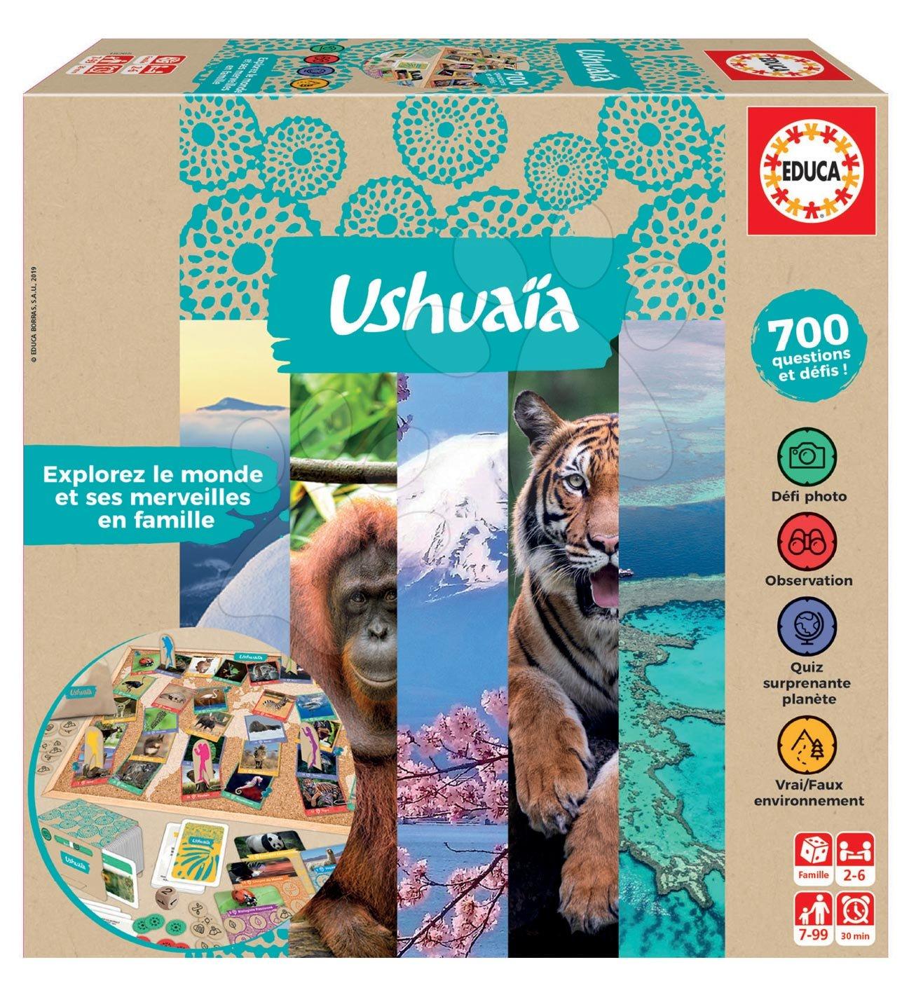 Spoločenská hra Jeu Ushuaia Junior Educa po francúzsky pre 2-6 hráčov 700 otázok od 7 rokov