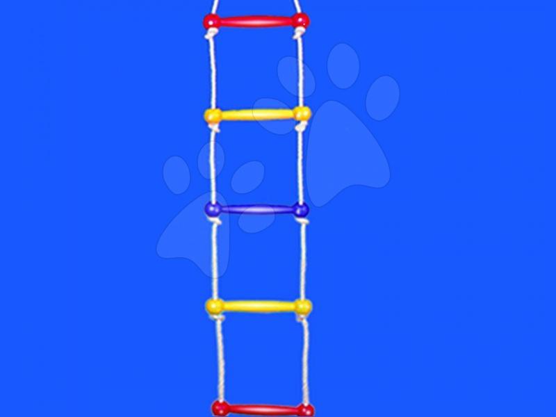 Dětské houpačky - Žebřík na cvičení Dohány žluto-modro-červený od 3 let