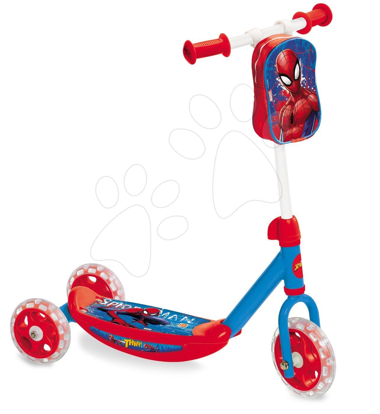 Koloběžka Ultimate Spiderman Mondo tříkolová s taškou