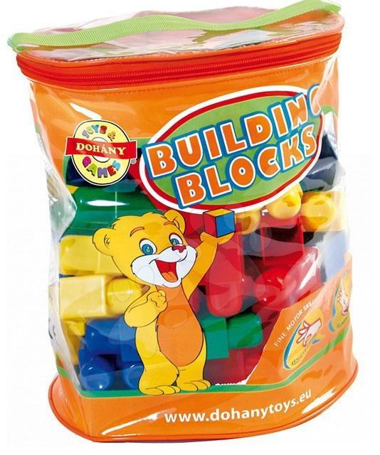 Cuburi de jucărie David Dohány 70 de piese de la 24 luni