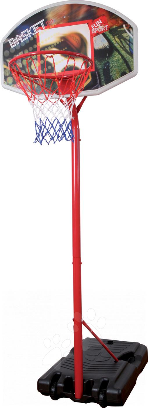 Basketbalový kôš Mondo s nastaviteľným kovovým stojanom výška 210-260 cm od 5 rokov