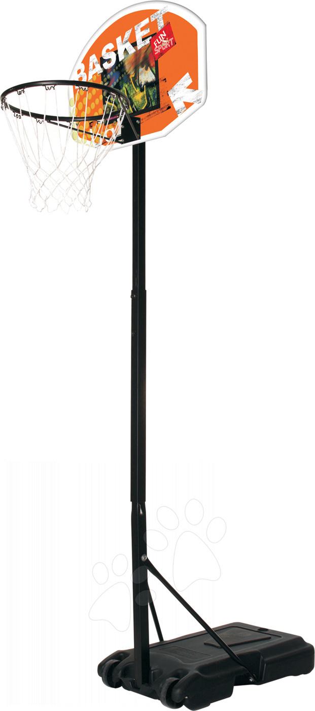 Basketbalový kôš Mondo s nastaviteľným kovovým stojanom výška 165-205 cm od 5 rokov