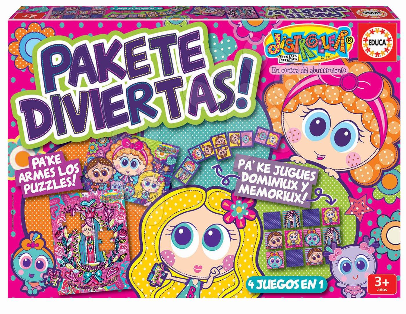 Puzzle, domino a pexeso Distroller Disney Superpack Educa