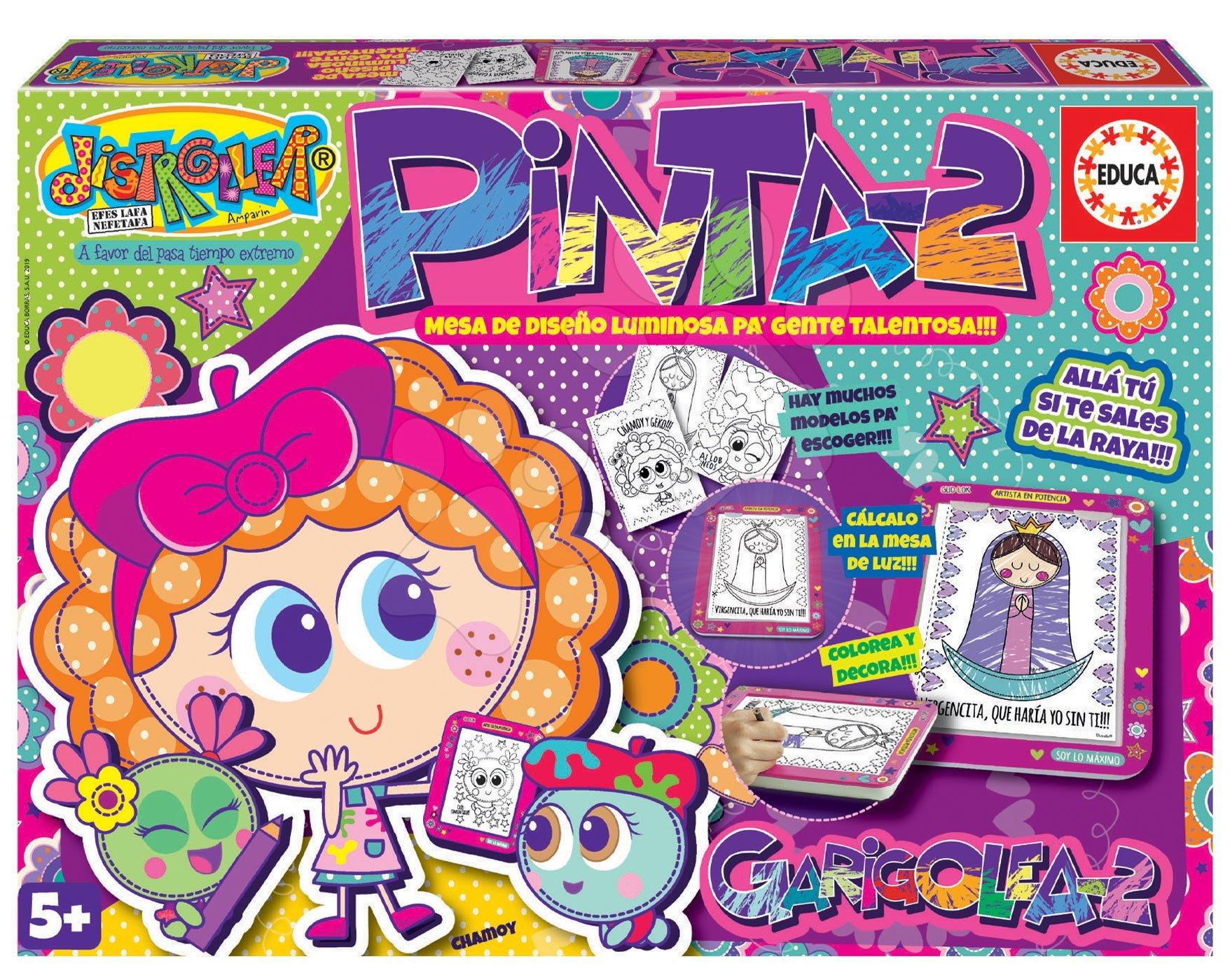Kreatívna hra kreslenie Pinta-2 Educa s predlohami a podložkou od 5 rokov španielsky