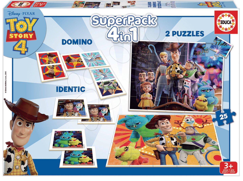 Progresívne detské puzzle - Puzzle, domino a pexeso Toy Story Disney Superpack Educa