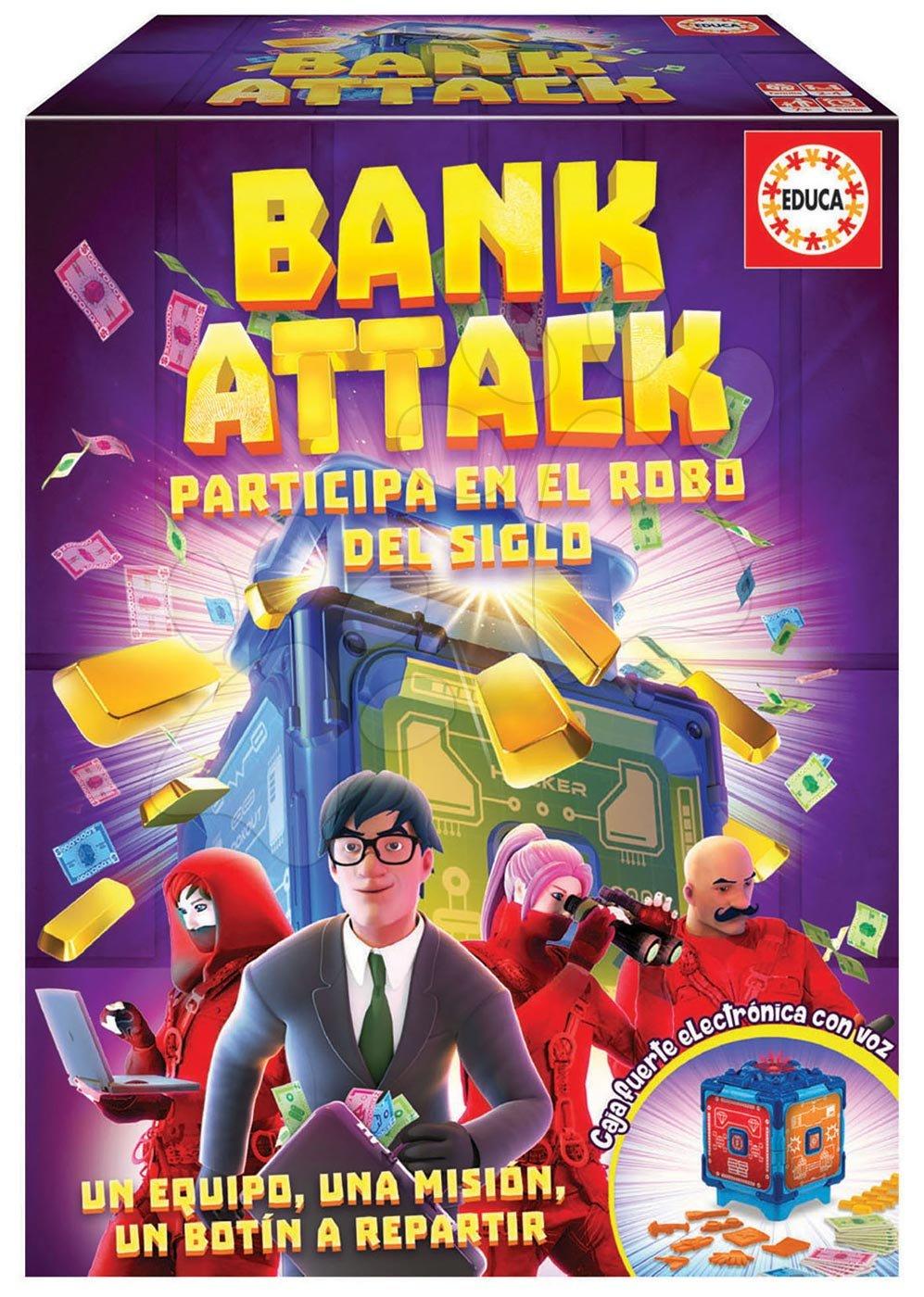 Spoločenská hra Bank Attack Educa po španielsky od 7 rokov