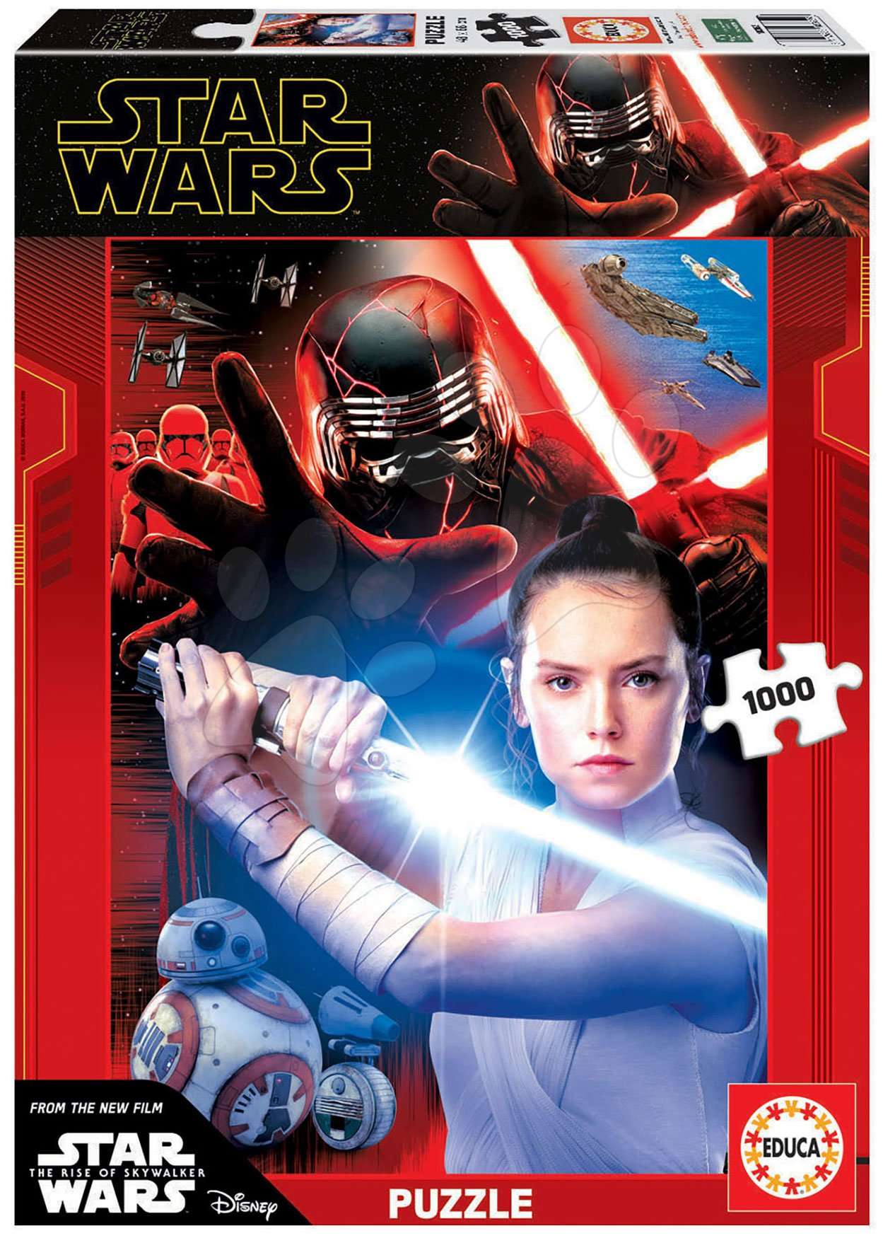 Puzzle Star Wars Episod IX The rise of Skywalker Educa 1000 piese și lipici Fix de la 11 ani