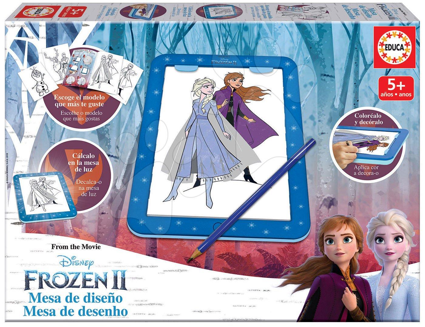 Kreslenie Frozen 2 Disney tablet Educa s predlohami a doplnkami pre deti od 5 rokov