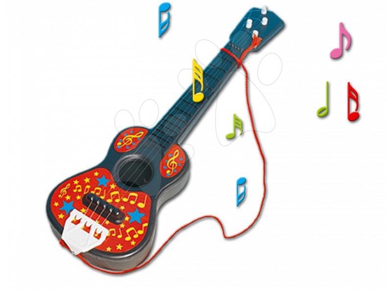 Dohány gitara pre deti malá 700 červená