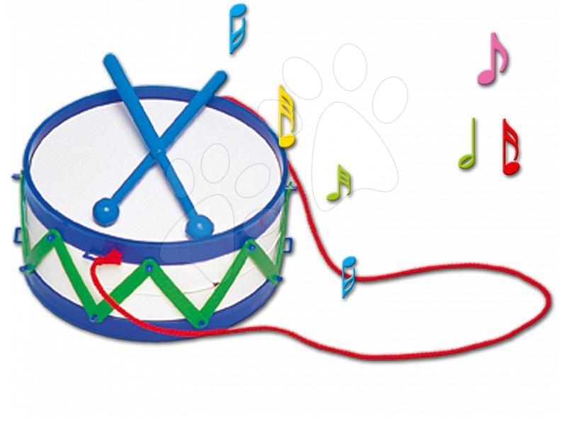 Dohány hudobný bubon pre deti 702 modrý