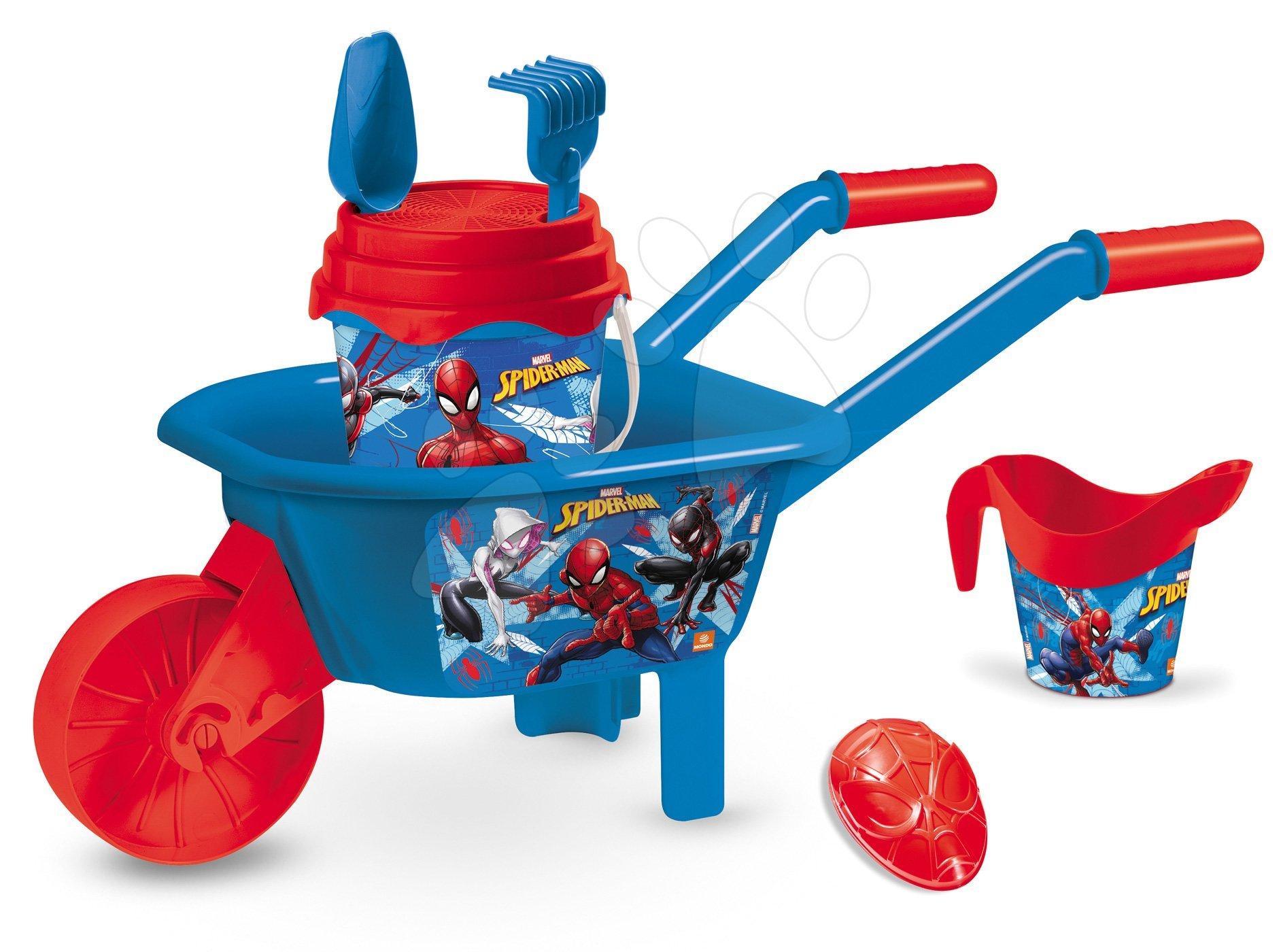 Fúriky do piesku - Fúrik s vedro setom Spiderman Mondo 5 dielov modro-červený od 18 mes