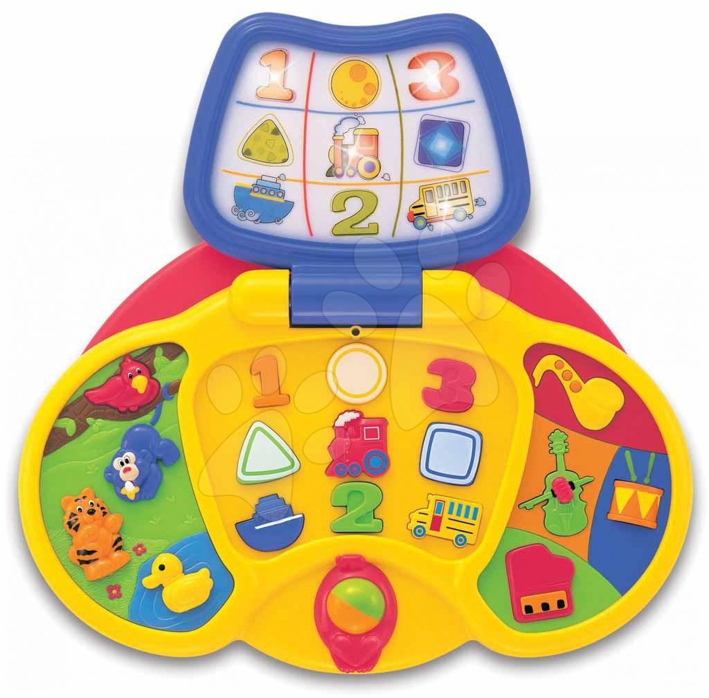 Hračky zvukové - Môj prvý laptop Activity Kiddieland so svetlom a zvukom od 12 mes