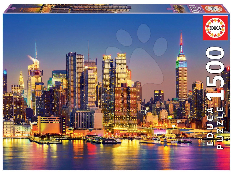 Puzzle Manhattan at Night Educa 1500 dielov a Fix lepidlo od 11 rokov