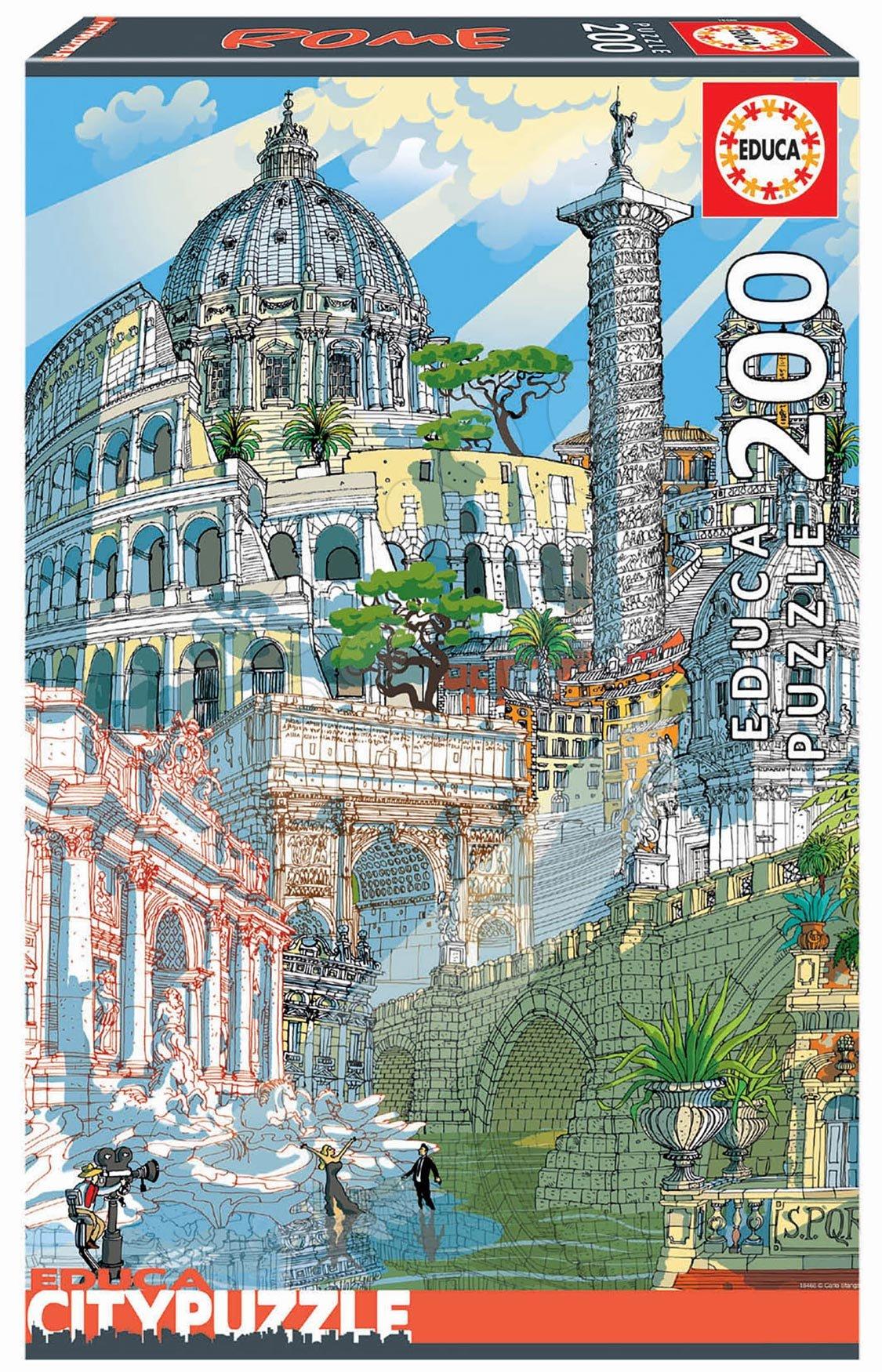 Puzzle Rome Citypuzzles Carlo Stanga Educa 200 dílků – ilustrátor od 8 let