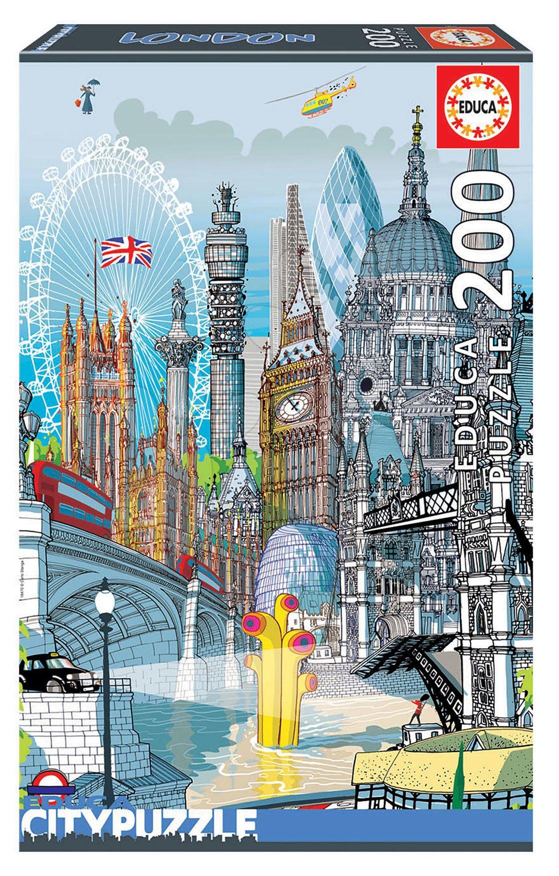 Puzzle London Citypuzzles Carlo Stanga Educa 200 dílků – ilustrátor od 8 let
