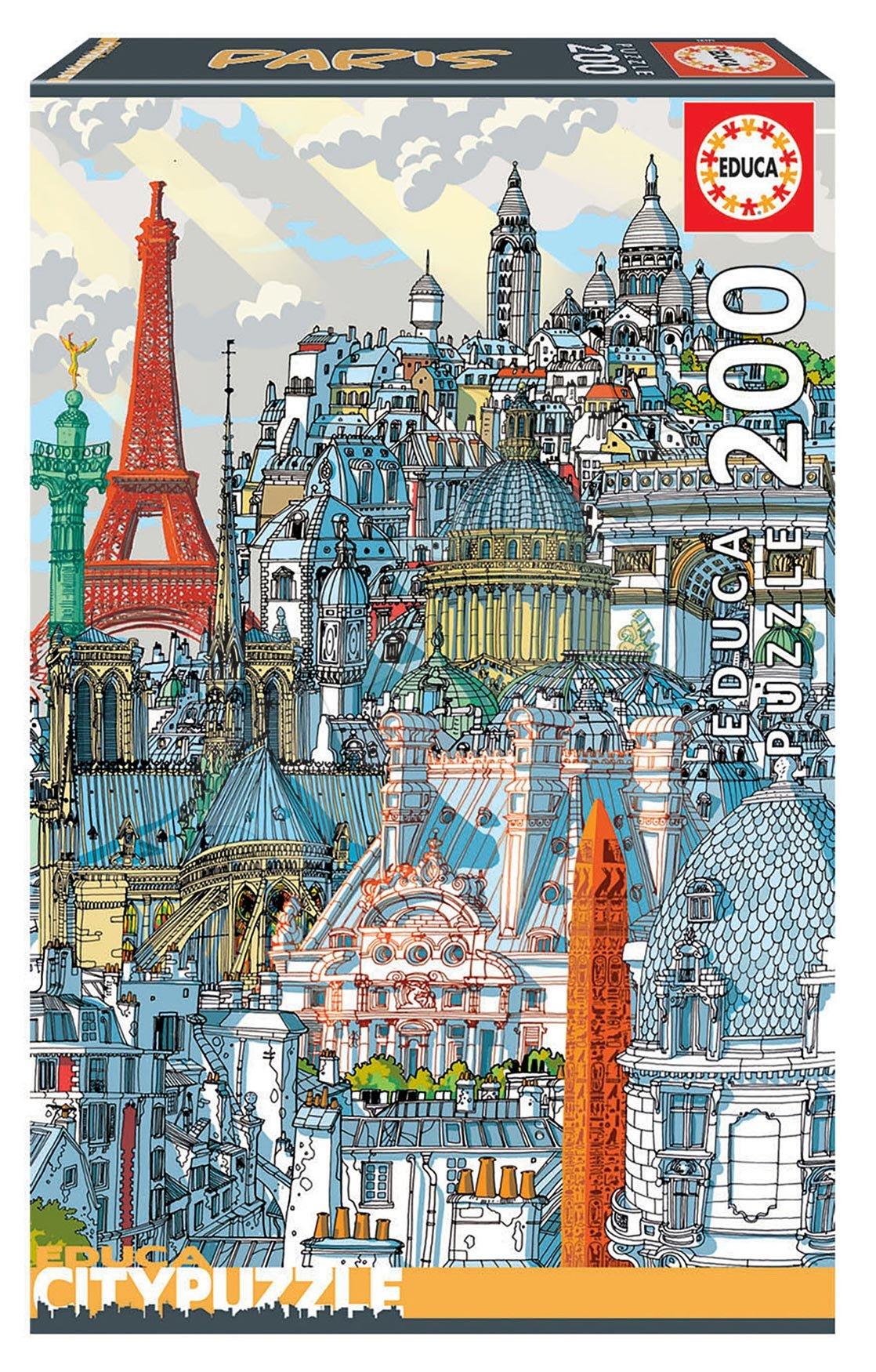 Puzzle Paris Citypuzzles Carlo Stanga Educa 200 dílků – Ilustrator od 8 let