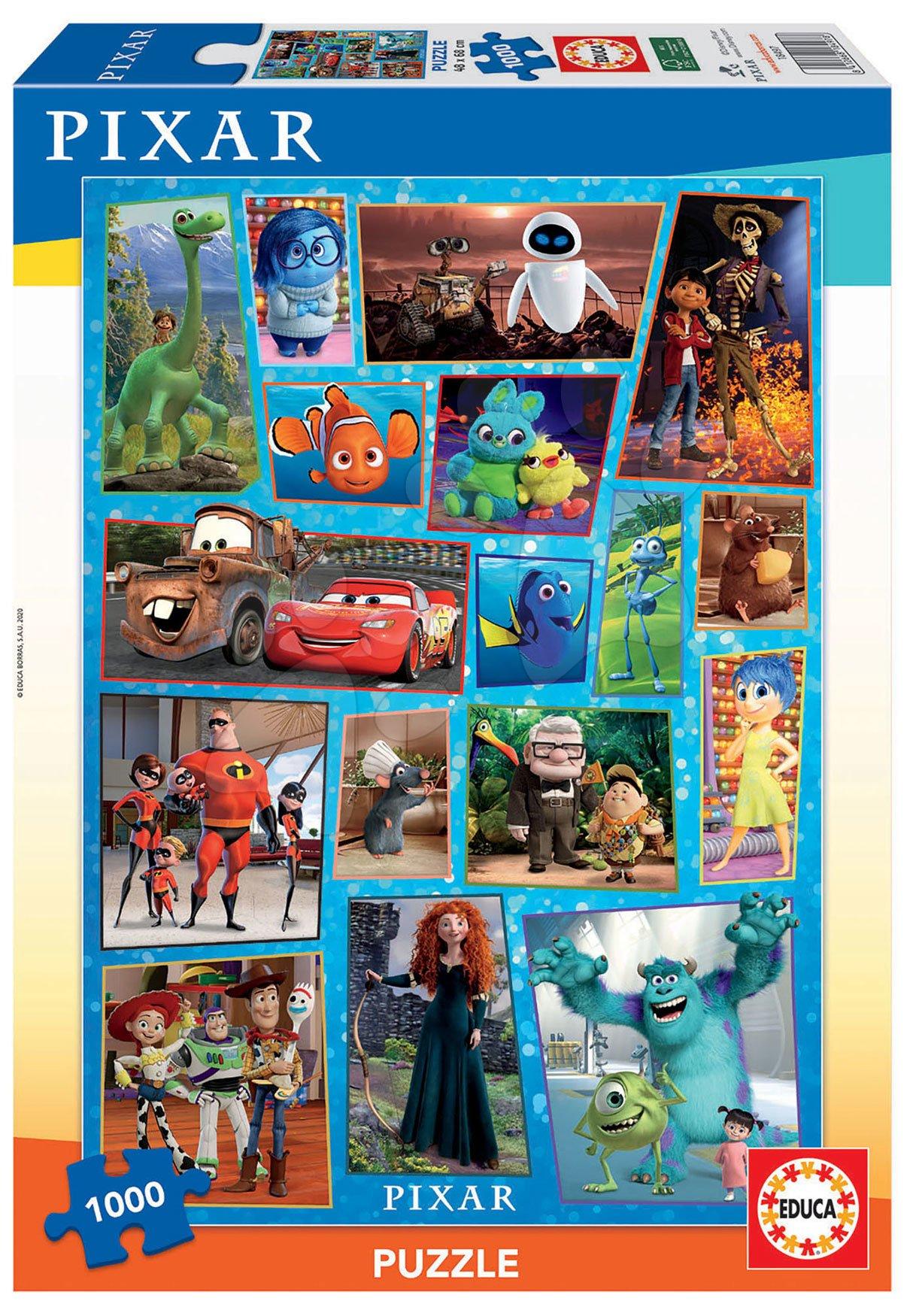 Puzzle Pixar Disney Educa 1000 dílů a Fix lepidlo od 11 let
