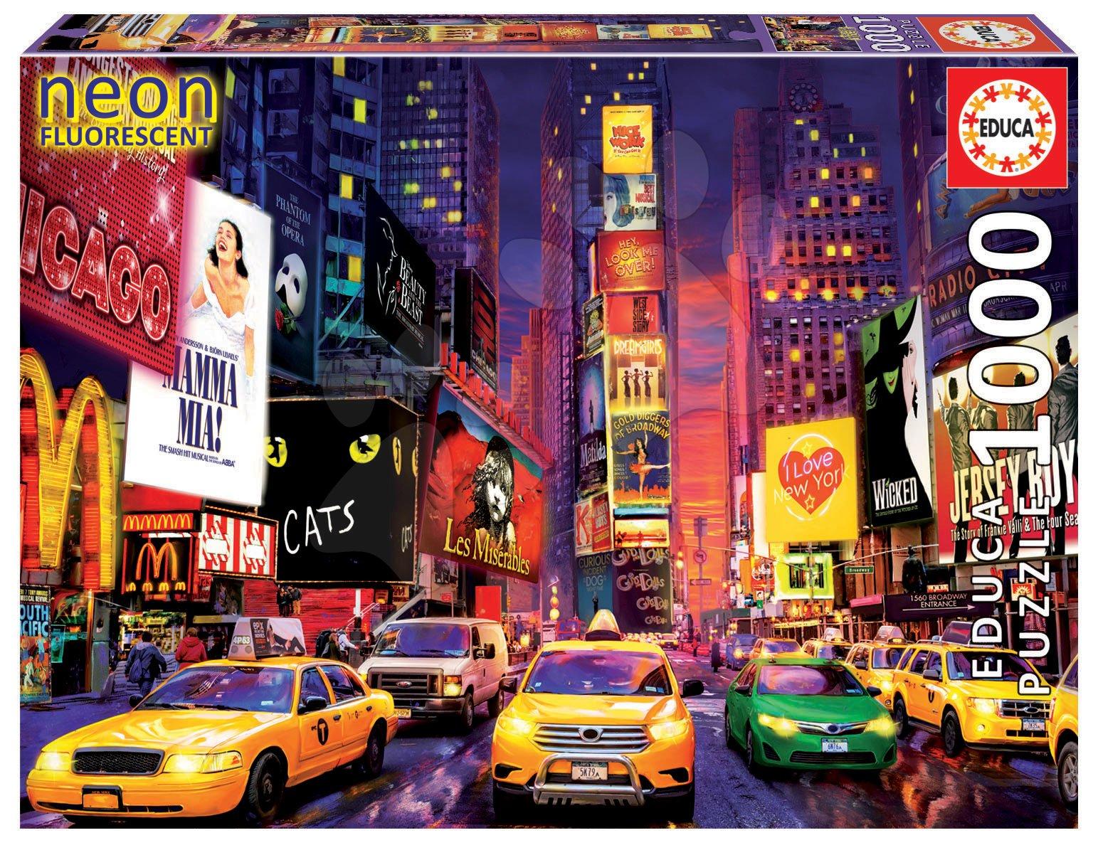Puzzle Times Square, New York Neon Educa 1000 dielov a Fix Lepidlo od 11 rokov