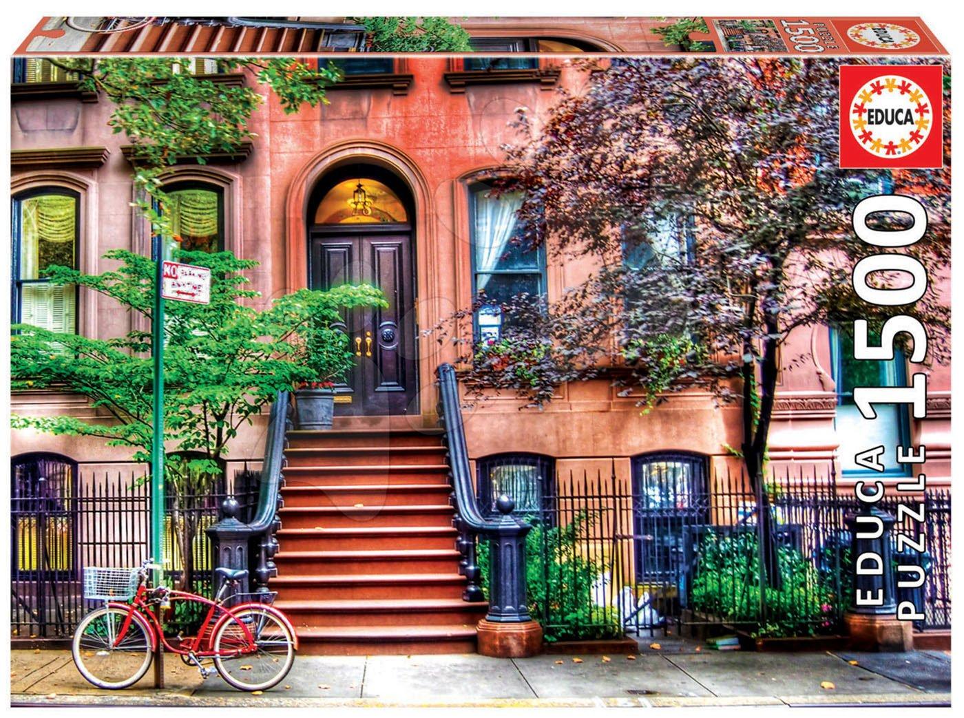 Puzzle Greenwich Village, New York Educa 1500 dielov a Fix lepidlo od 11 rokov