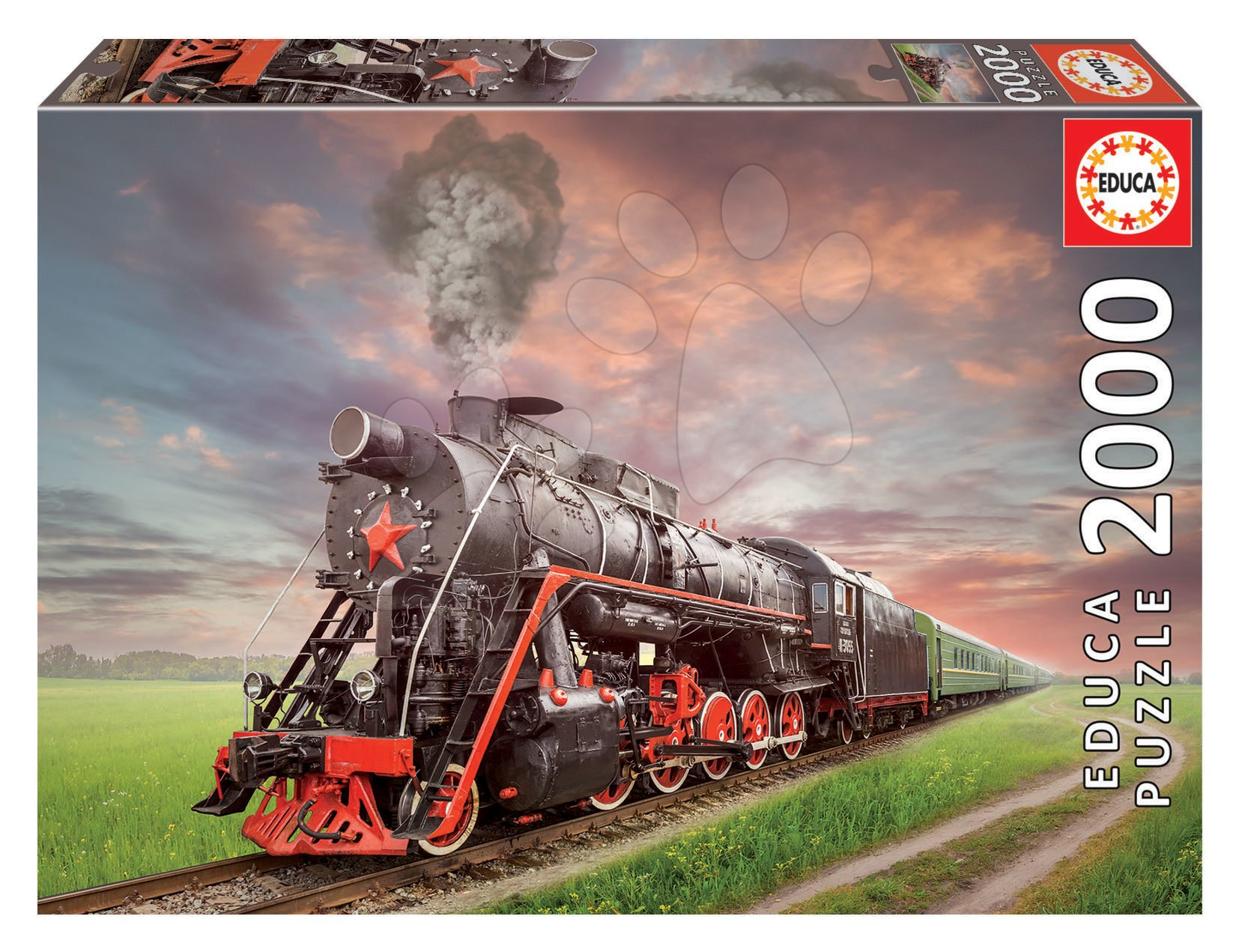 Puzzle Steam Train Educa 2000 dielov a Fix lepidlo od 11 rokov