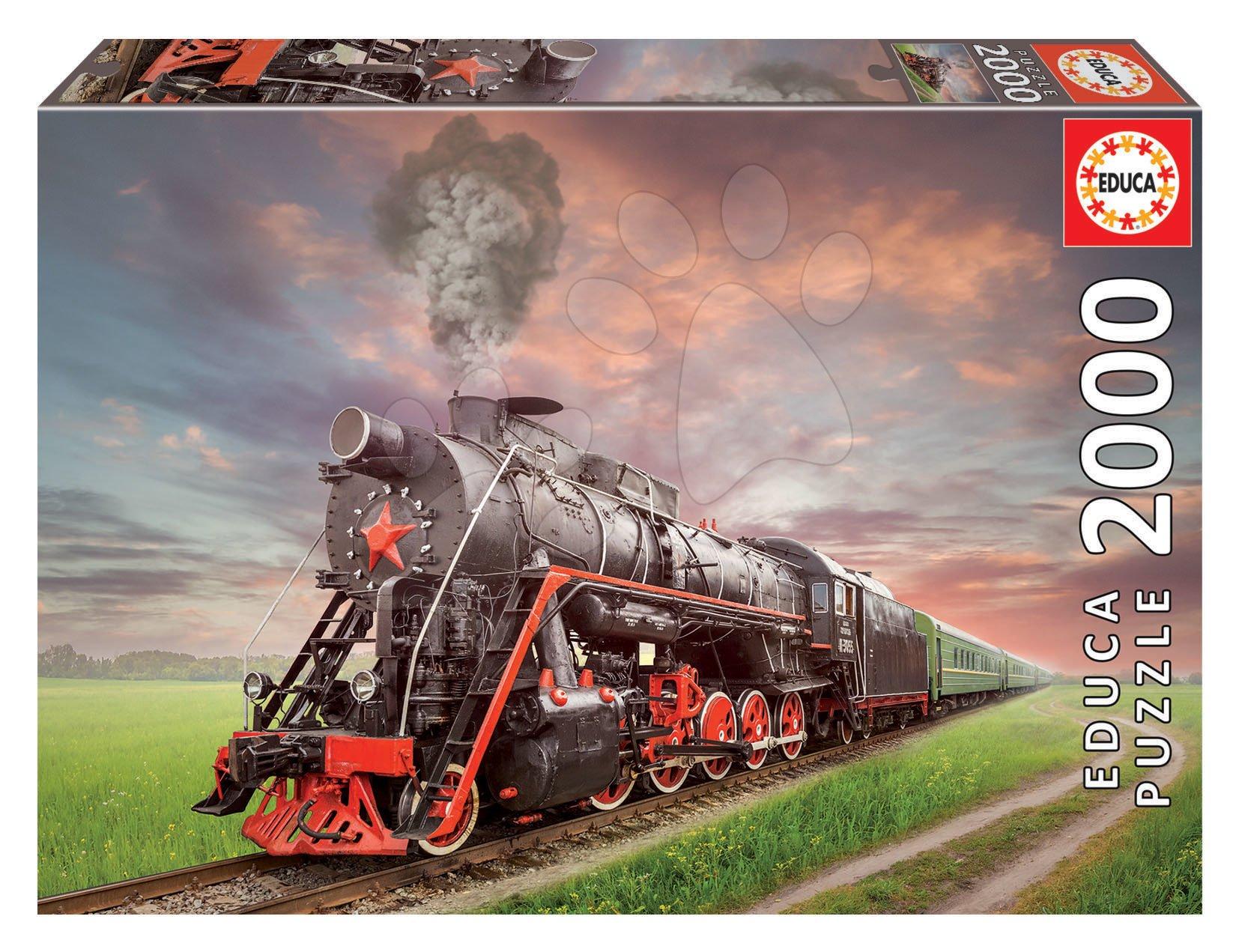 Puzzle Steam Train Educa 2000 dílků a Fix lepidlo od 11 let
