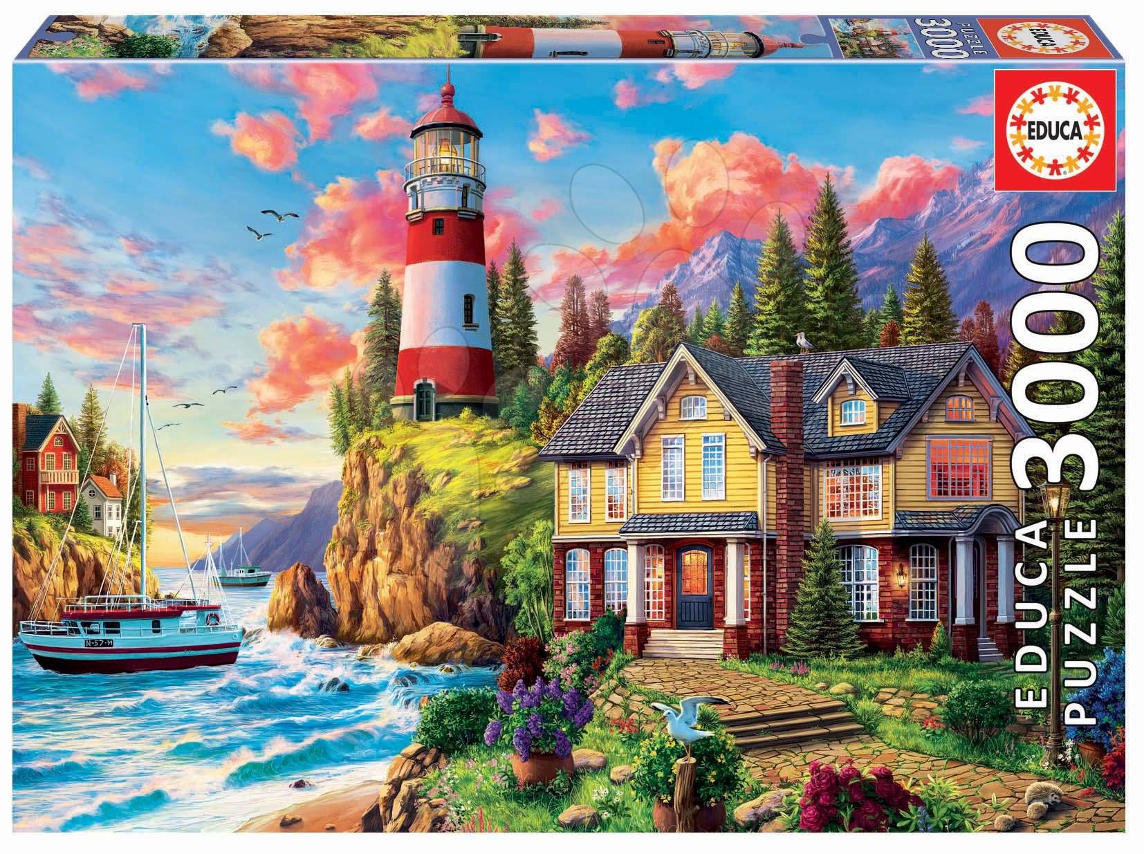 Puzzle Lighthouse near the Ocean Educa 3000 dielov EDU18507