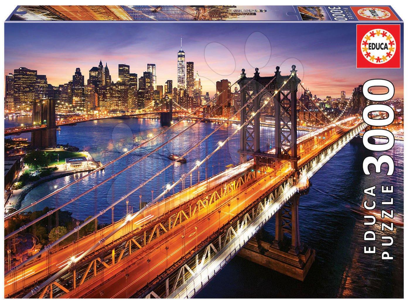 Puzzle Manhattan at Sunset Educa 3000 dielov od 11 rokov