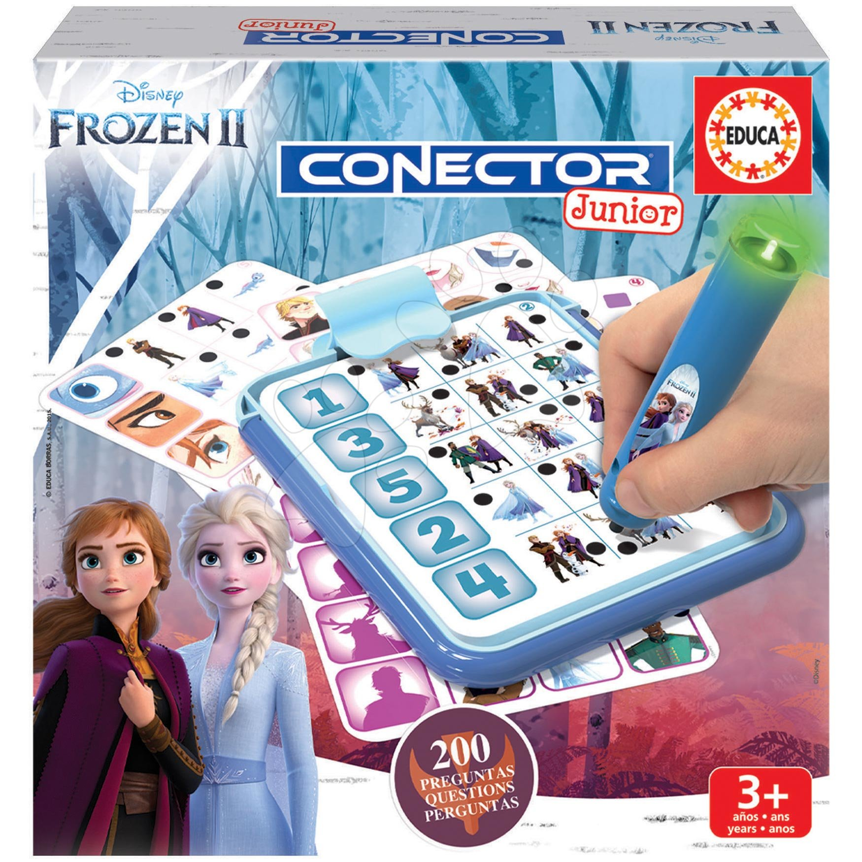 Detská spoločenská hra Disney Frozen 2 Disney Conector junior 40 kariet a 200 otázok a inteligentné pero