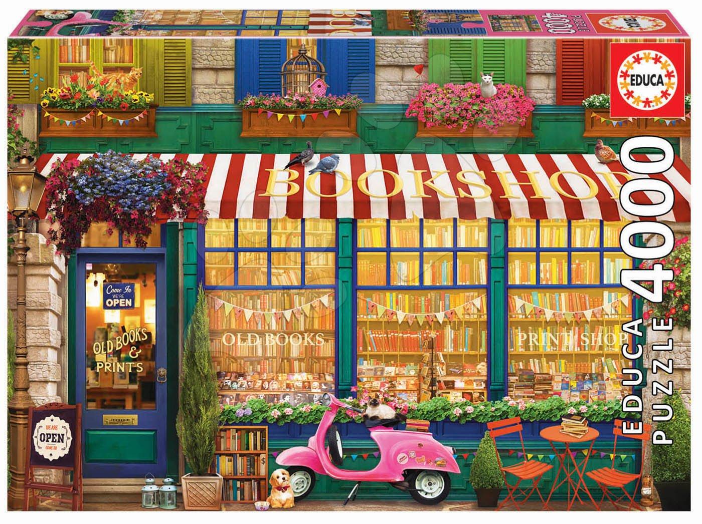 Puzzle Vintage Bookshop Educa 4000 dielov od 11 rokov