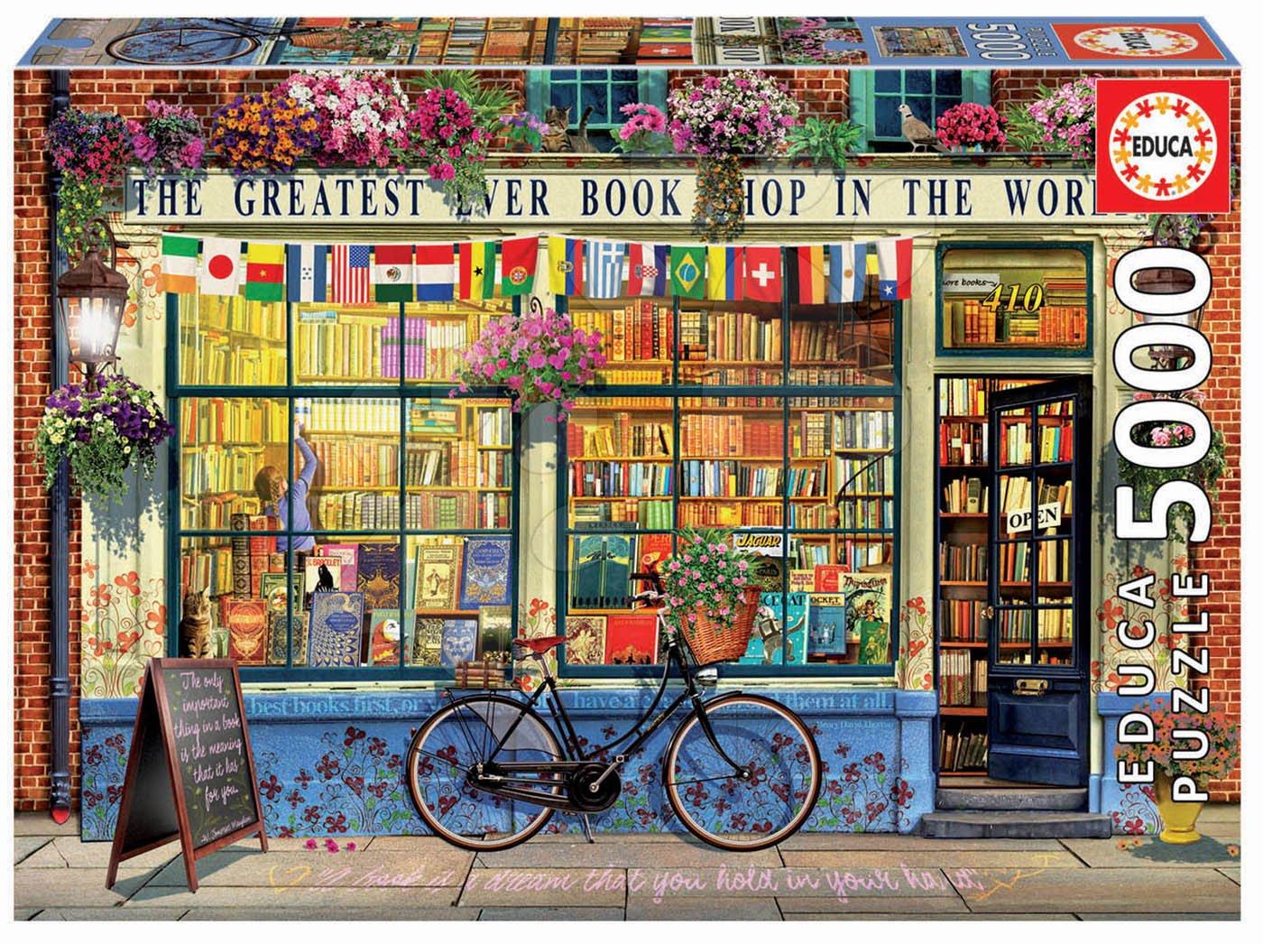 Puzzle Greatest Bookshop in the World Educa 5000 dílků od 11 let