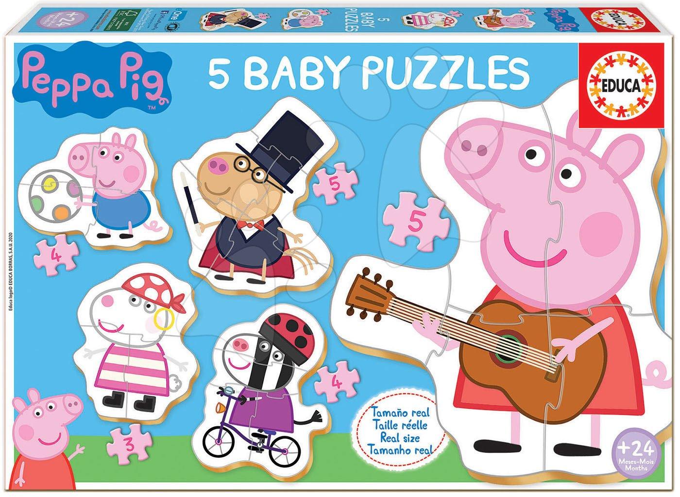 Puzzle pro nejmenší Baby 5 Peppa Pig 2 Educa od 24 měsíců