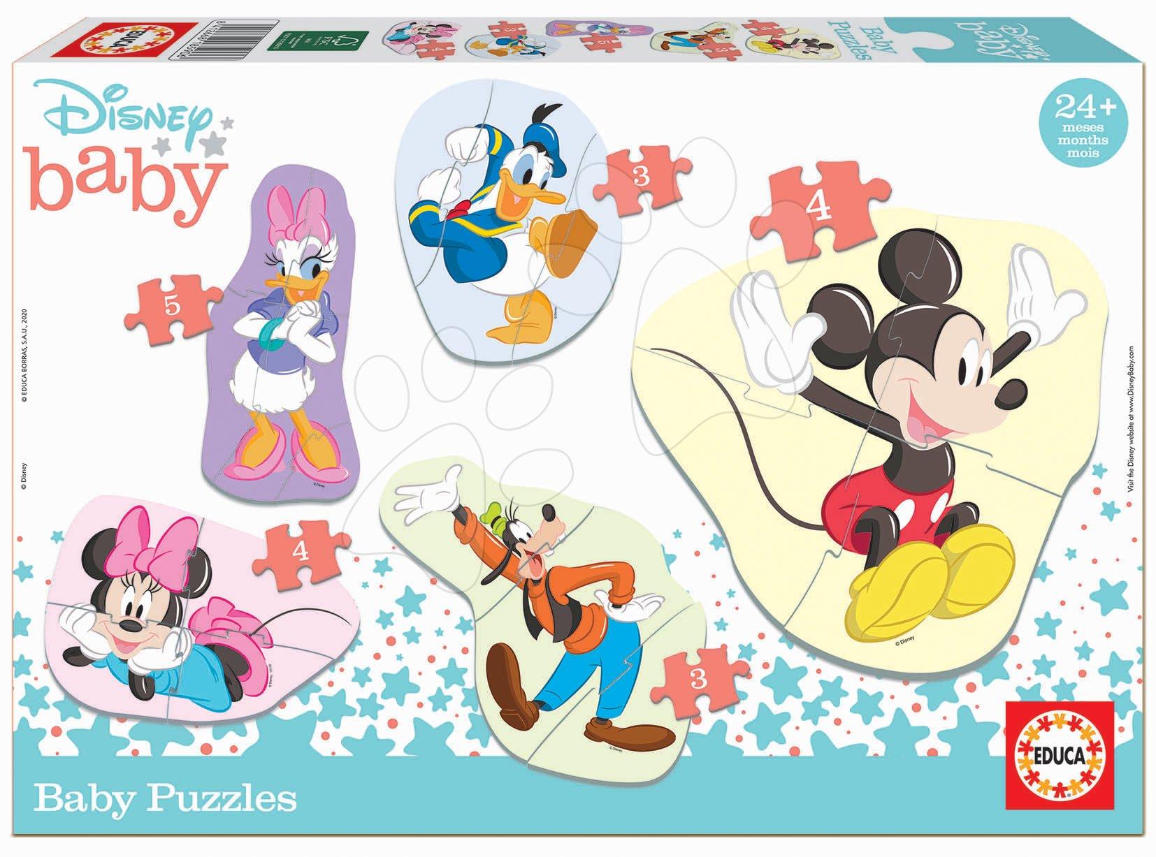 Puzzle pro nejmenší Baby 5 Disney Mickey a jeho přátelé Educa od 24 měsíců