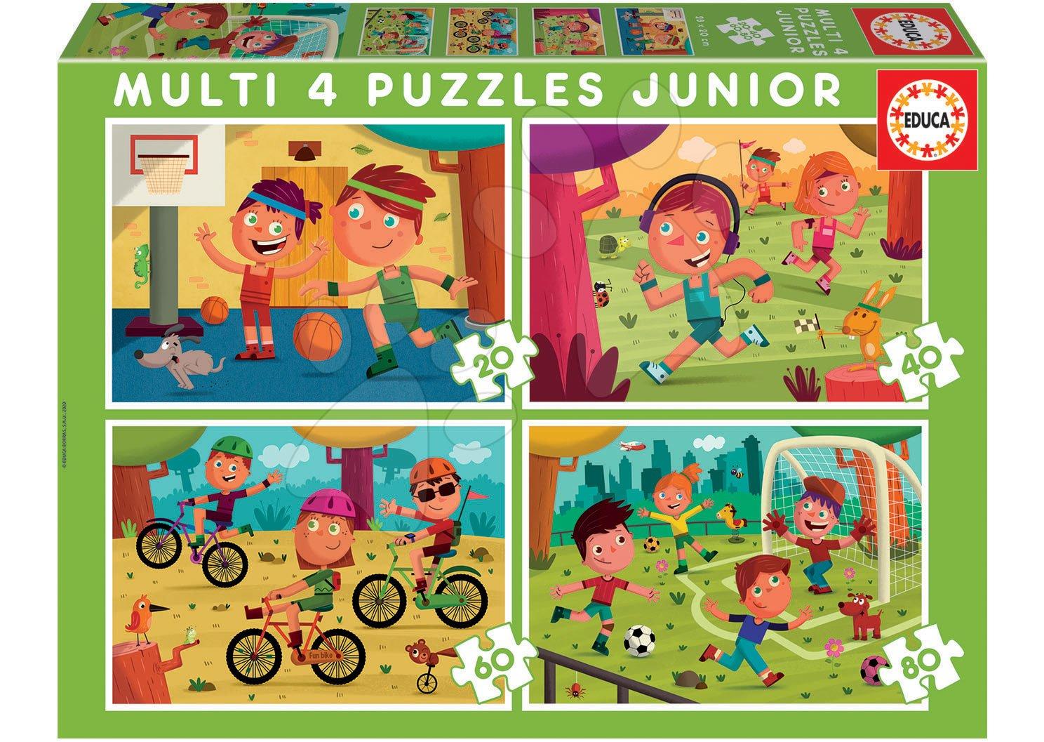 Puzzle Multi 4 Junior Sport Educa 20-40-60-80 dílků od 4 let