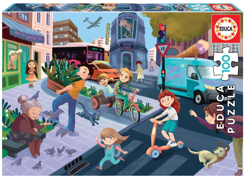 Puzzle V meste Educa 100 dielov od 6 rokov