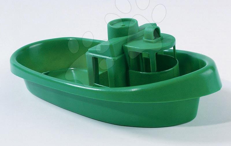 Vapoare si barci - Vapor din plastic pentru apă Dohány lungime de 33 cm) verde de la 24 luni