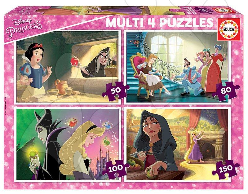 Puzzle Villains Disney Multi 4 Educa 50-80-100-150 dielov EDU18626