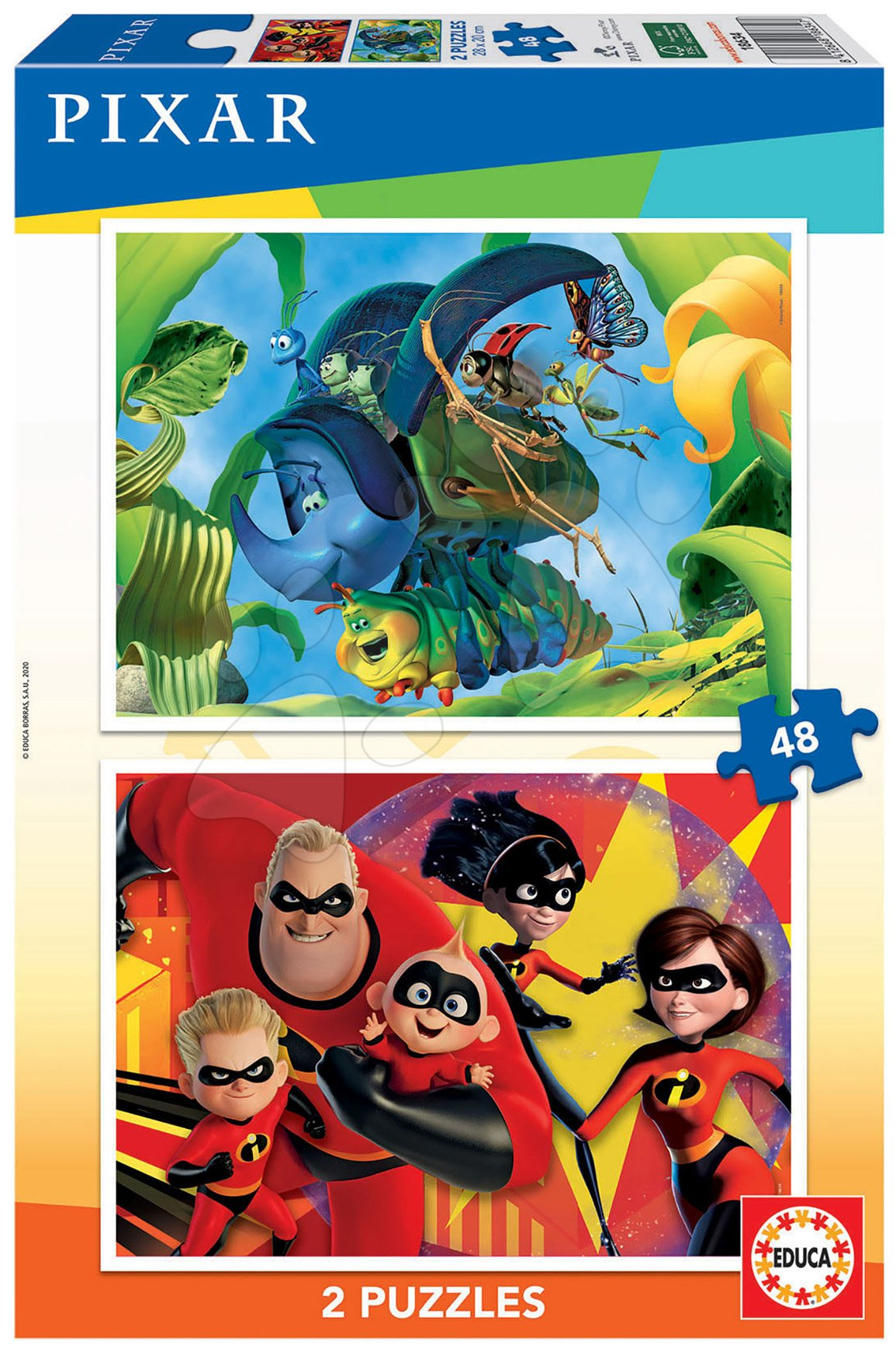 Puzzle Pixar Disney Educa 2x48 dielov od 4 rokov