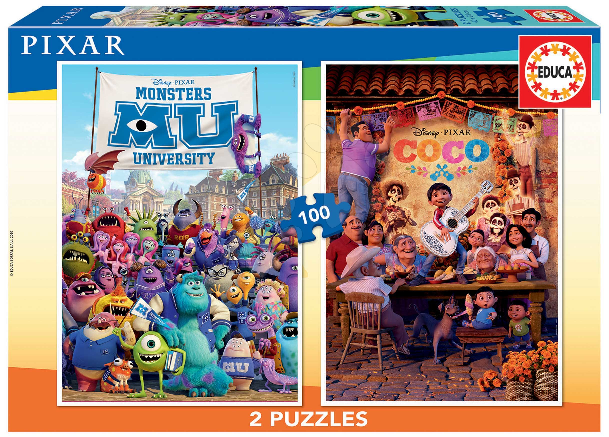 Puzzle Pixar Disney Educa 2x100 dielov od 6 rokov