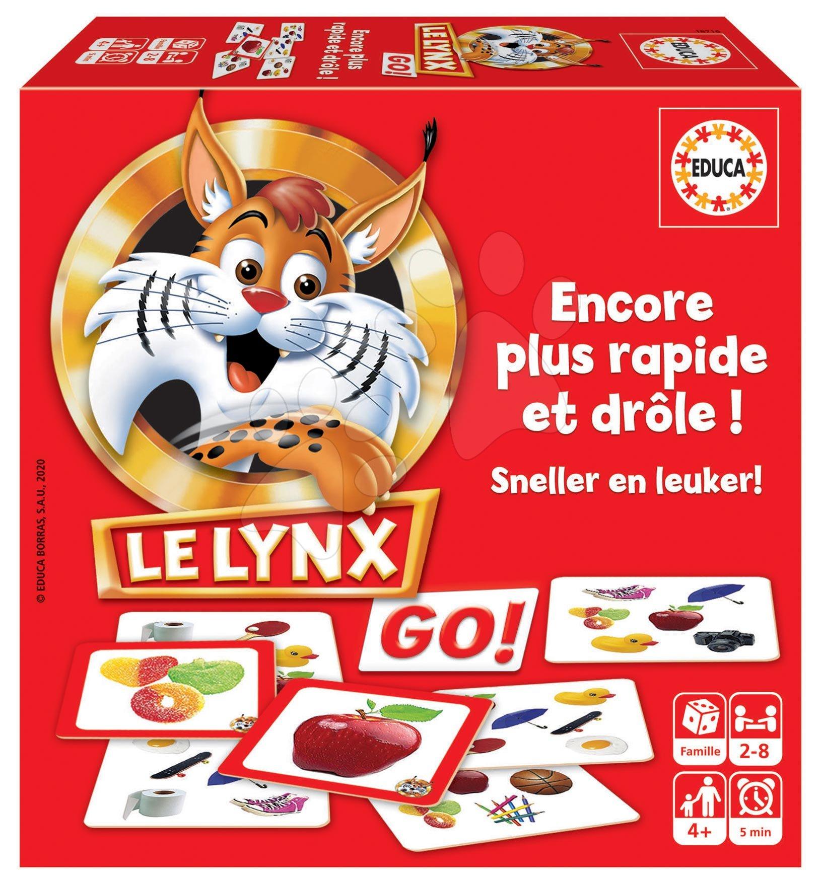 Spoločenská hra Lynx Rýchly ako rys Educa 60 obrázkov pre najmenších francúzsky od 4 rokov