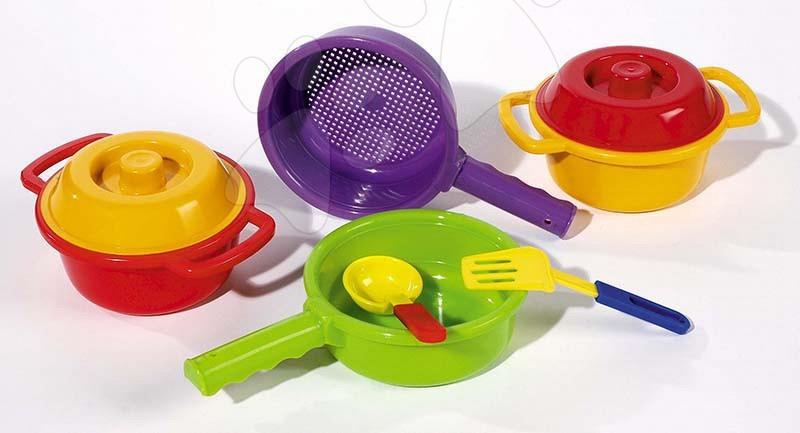 Set de vase de bucătărie Dohány cu oale cu 8 accesorii de la 3 ani