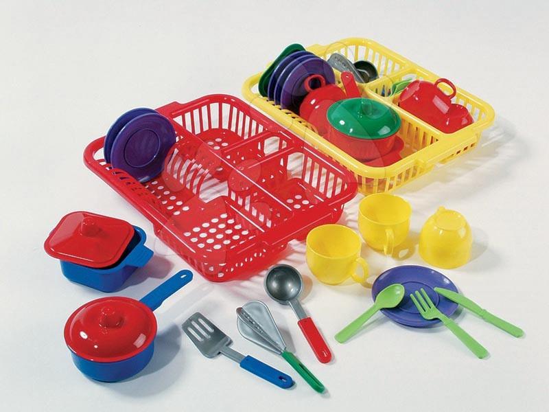 Accesorii și vase de bucătărie de jucărie - Uscător tavă Dohány galben/roșu