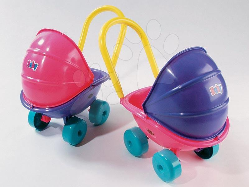 Dohány detský hlboký kočík pre bábiku 5013 fialovo-ružový