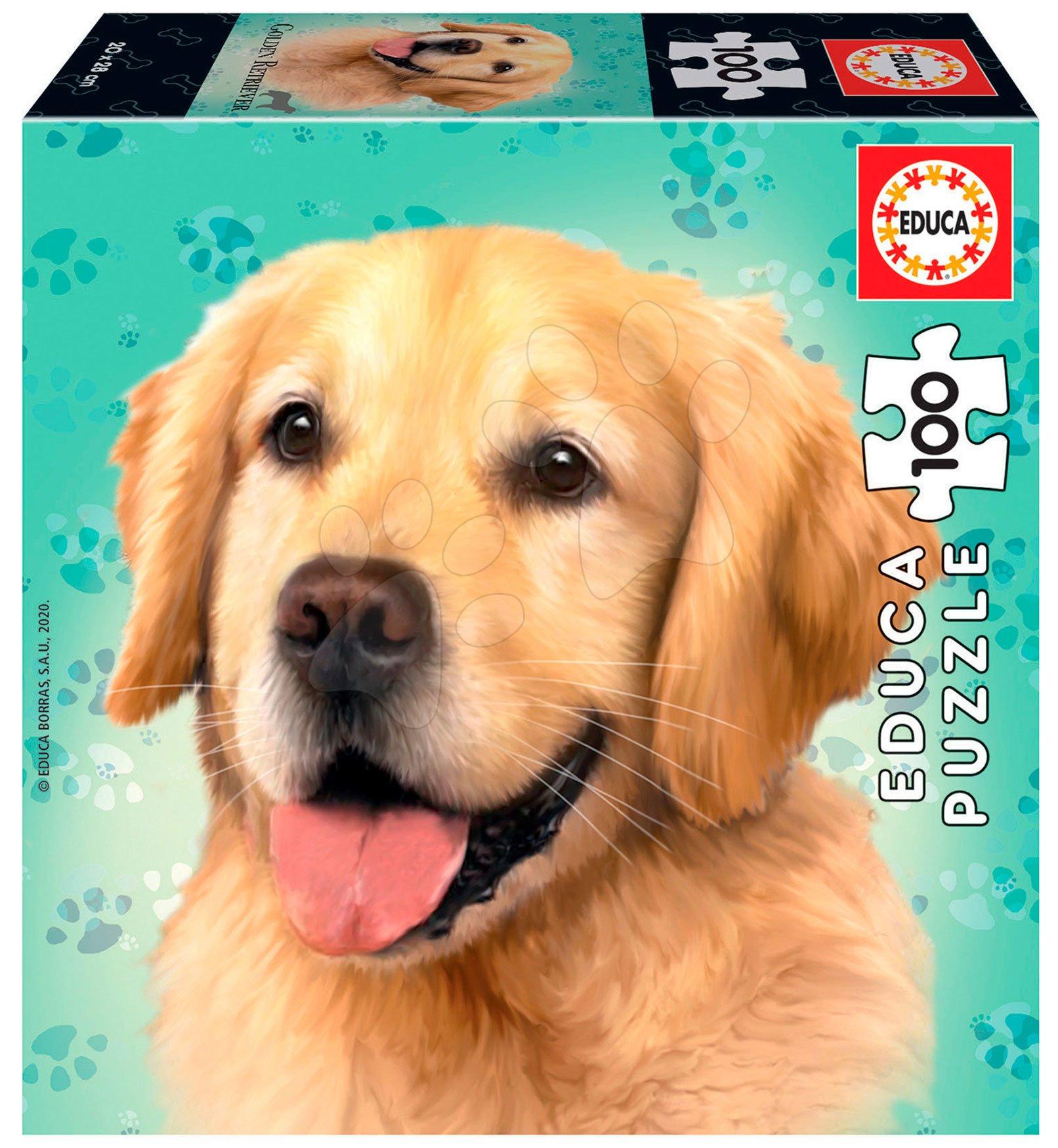 Puzzle Mini Box Labrador Retriever Educa 100 dielov od 6 rokov
