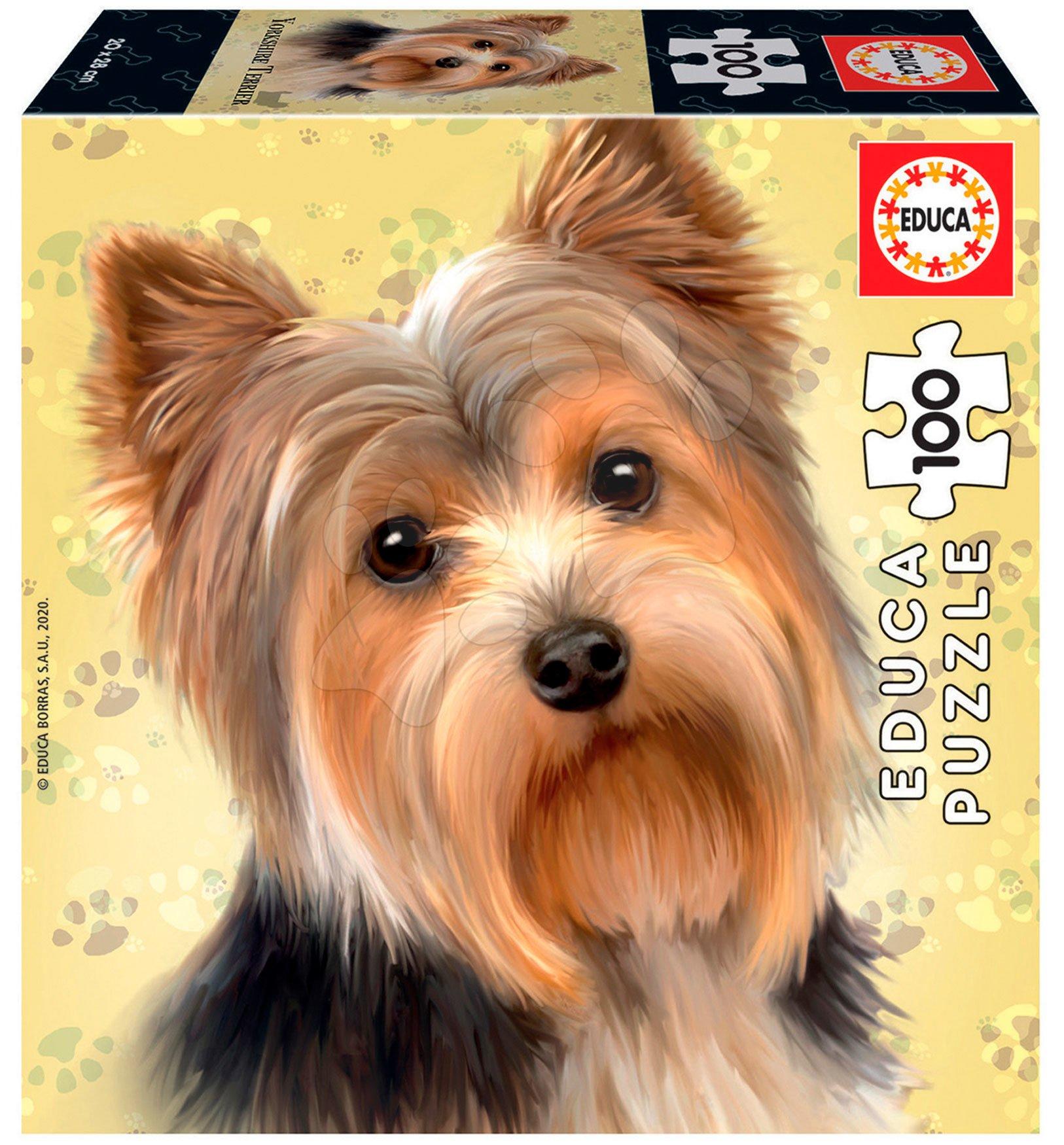 Puzzle Mini Box Yorkshire Terrier Educa 100 dielov od 6 rokov