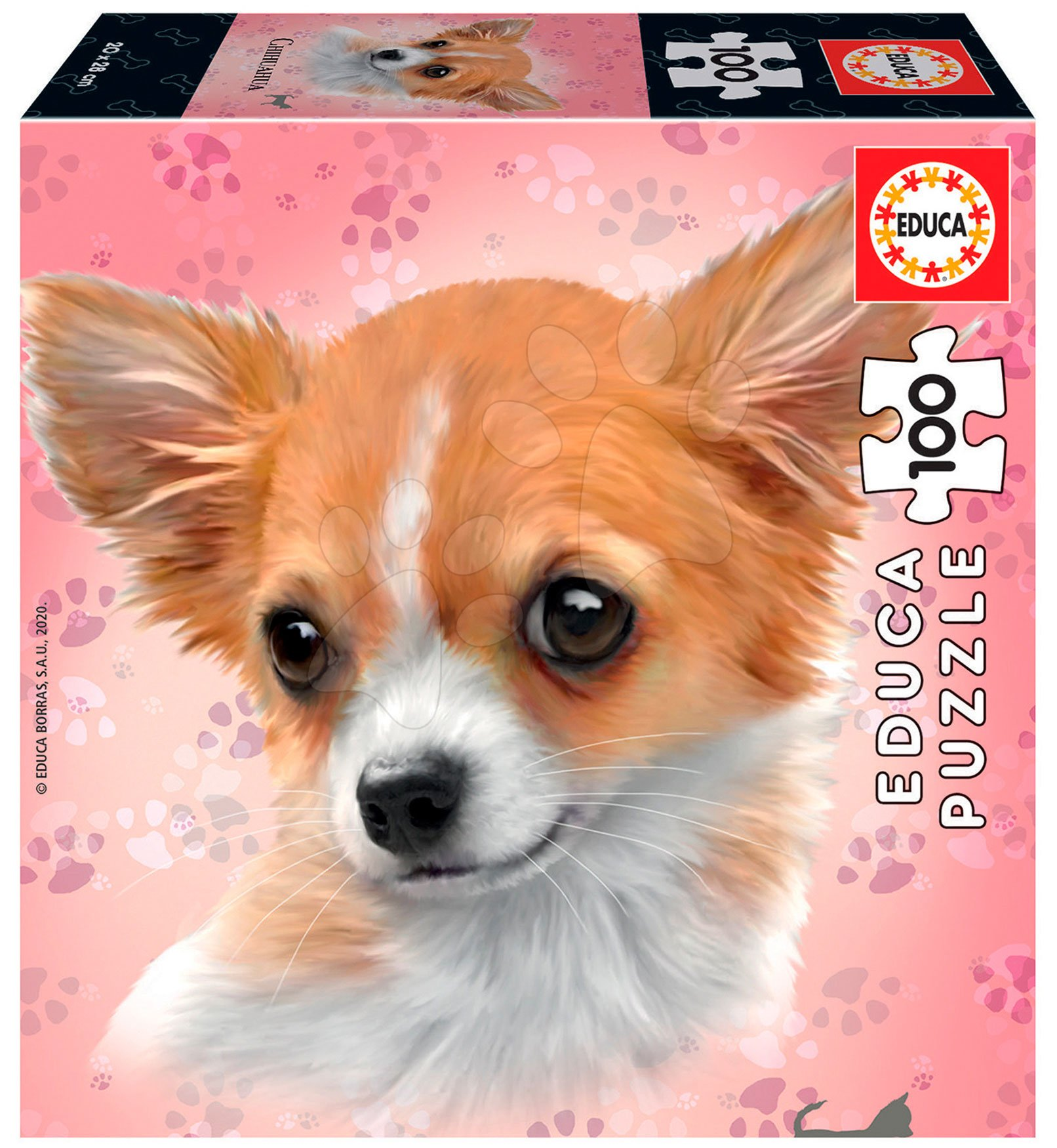 Puzzle Mini Box Chihuahua Educa 100 dielov od 6 rokov