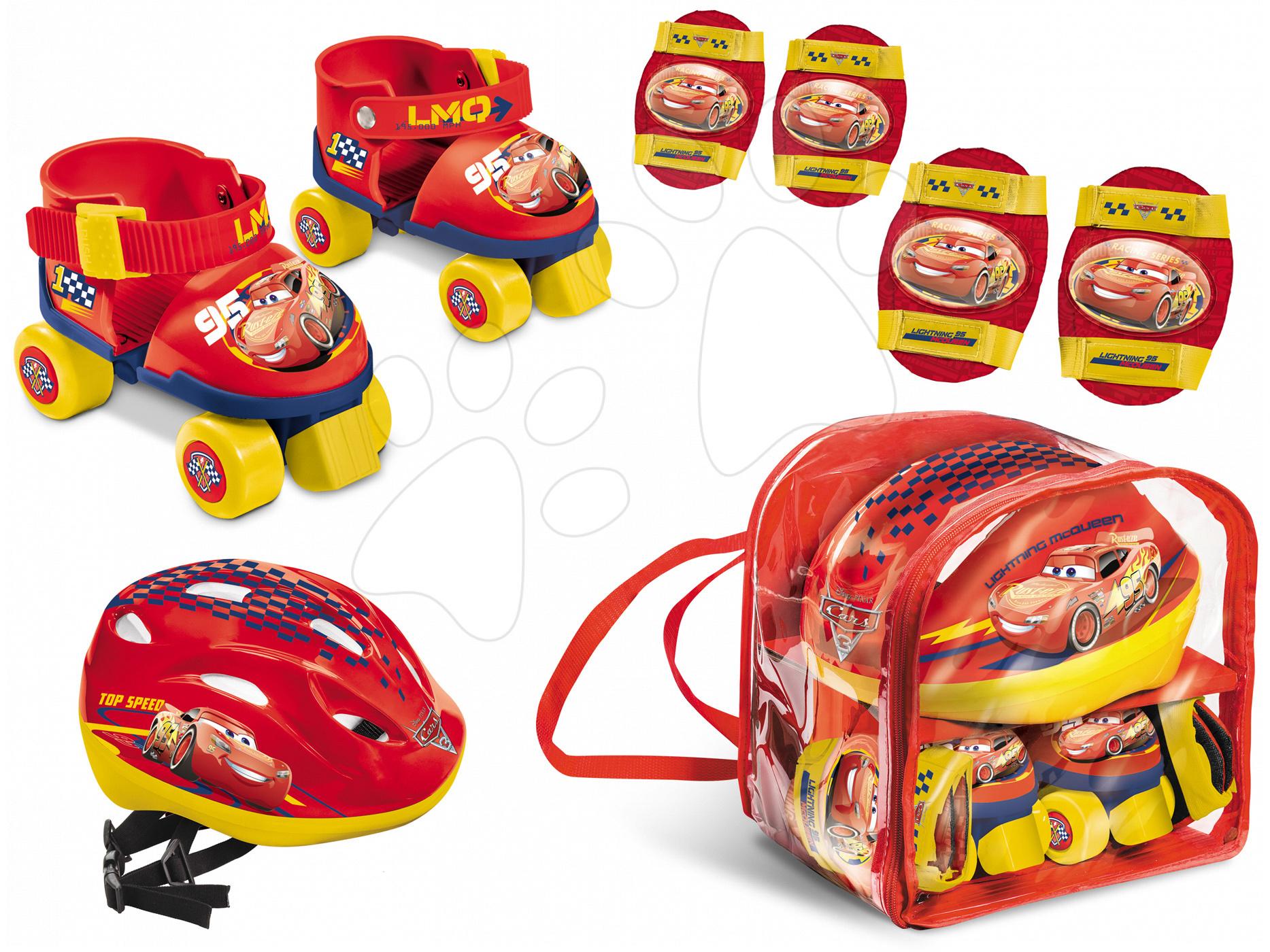 Kolečkové brusle Auta Mondo s chrániči a helmou velikost 22-29