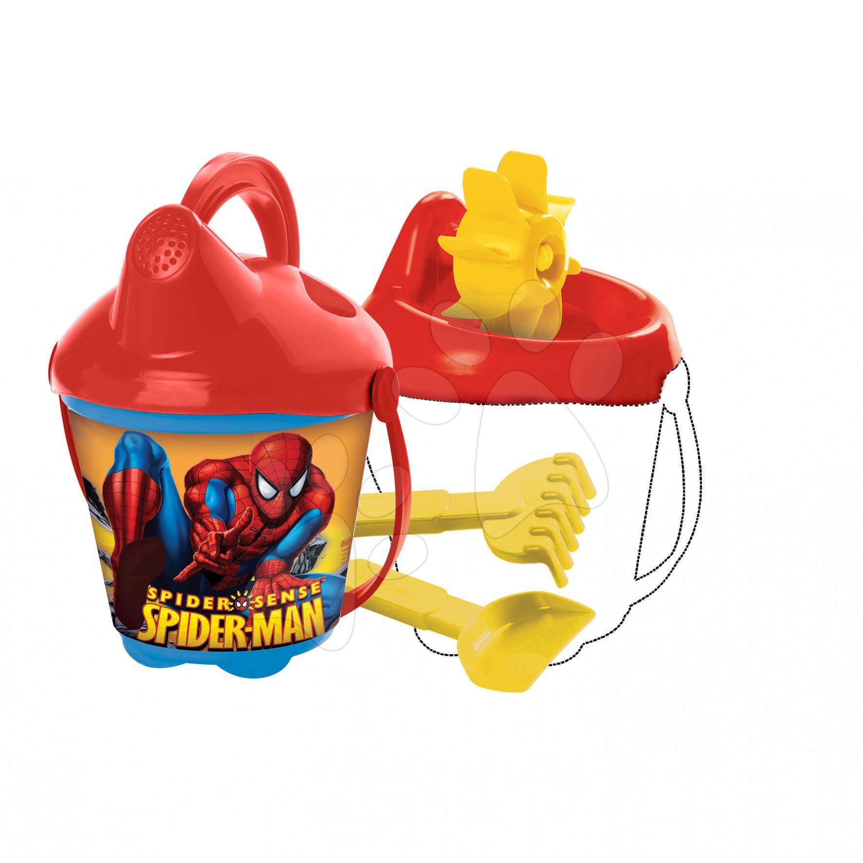 Kbelík set s kombinovaným mlýnem Spiderman Mondo 14 cm