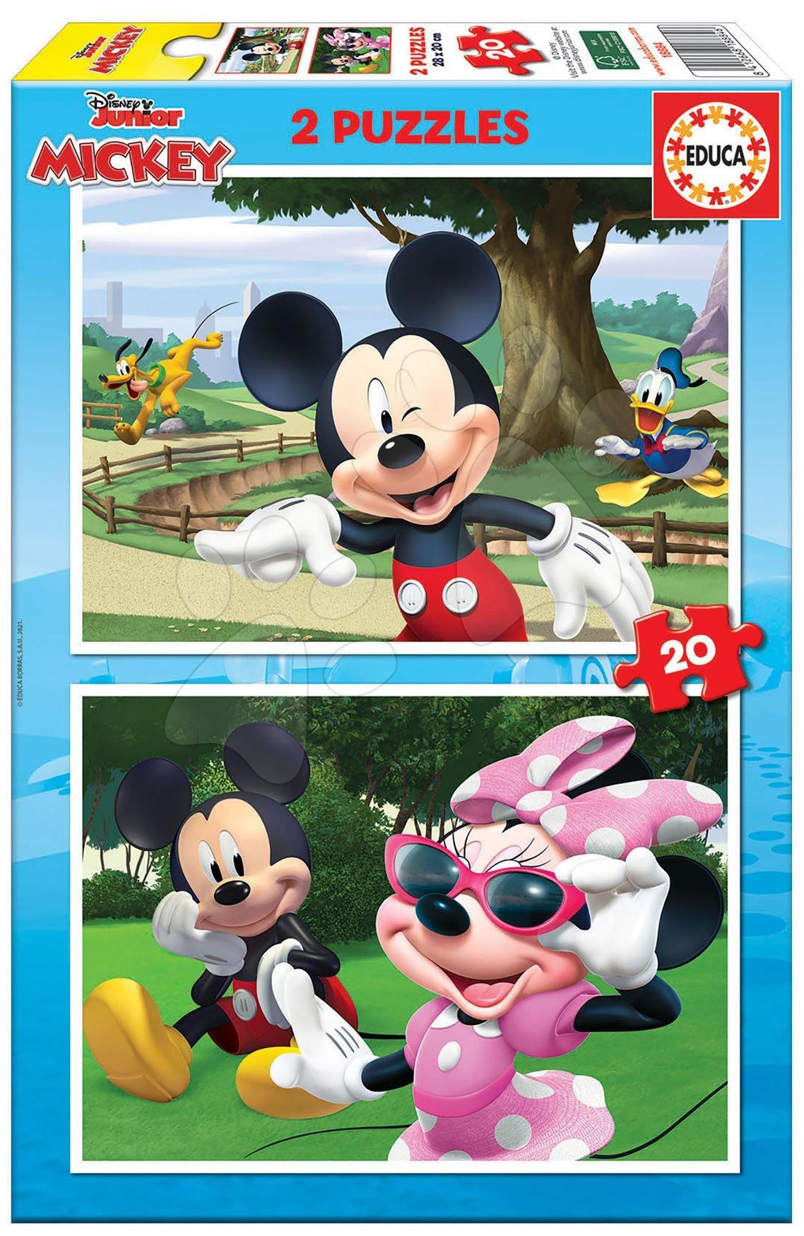 Puzzle Mickey&Friends Educa 2x20 dielov od 4 rokov
